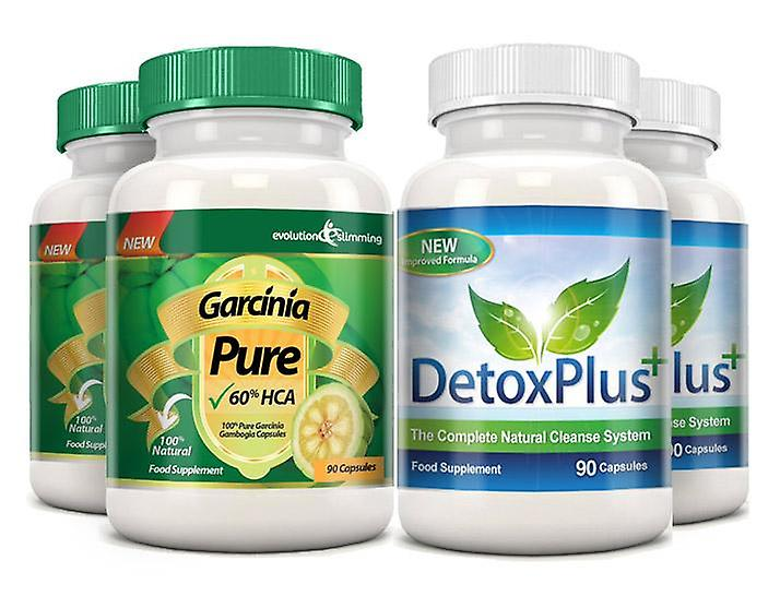 Garcinia Pure 100% Garcinia Cambogia and Colon Cleanse Combo - 2 Month Supply - Fat Burner and Colon Cleanse - Evolution Slimming