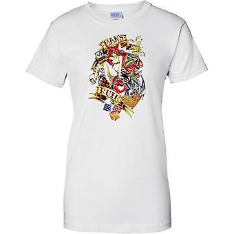 Naval Tattoo - Mans Ruin - Royal Navy Sailors - Ladies T Shirt