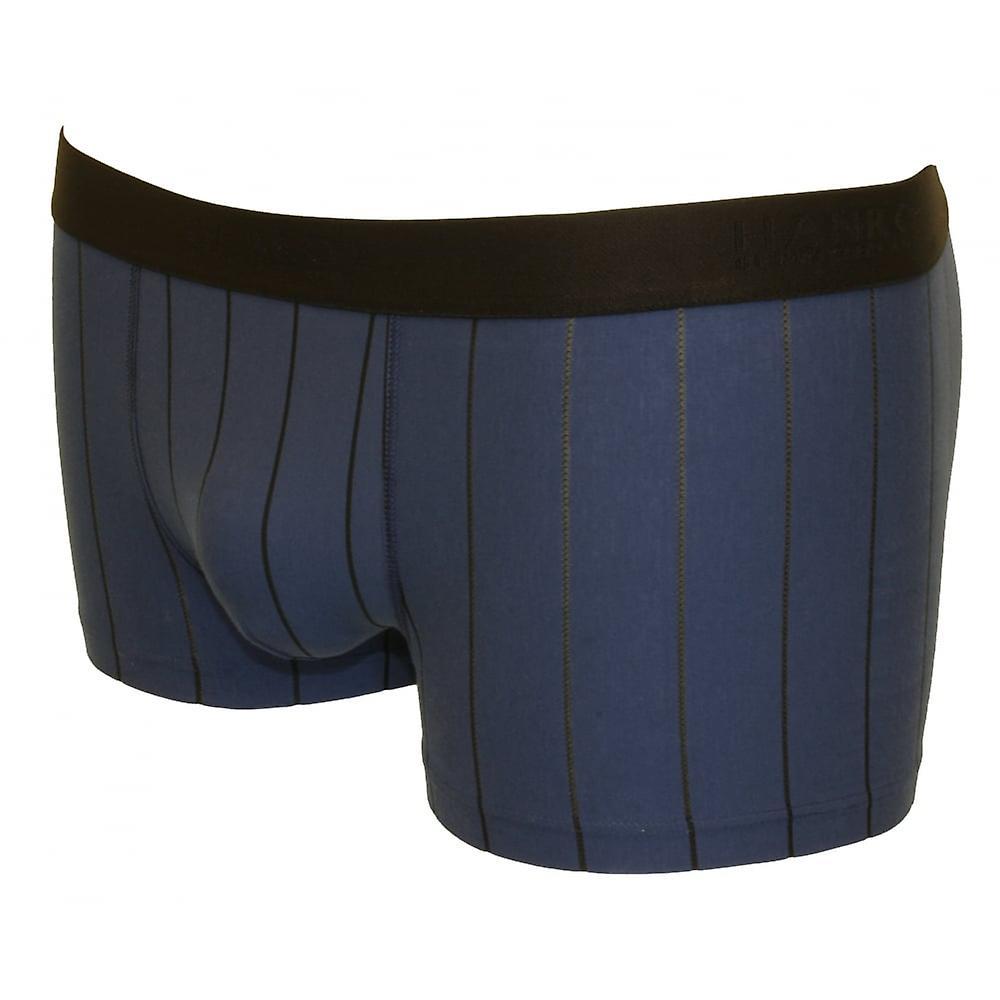 Hanro Shadow Fine Stripe Boxer Trunk, Ferminate Blue