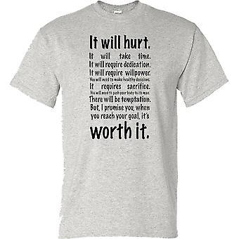 6ffedd05 Det vil skade - motivasjon Bodybuilding vekt trening Fitness damer T skjorte