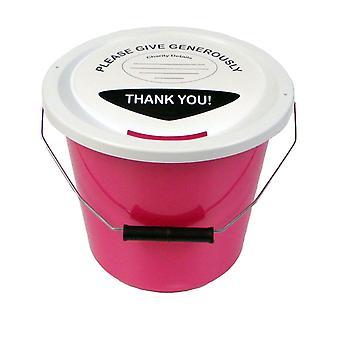 Wohltätige Zwecke Geld Collection Eimer 5 Liter - Pink