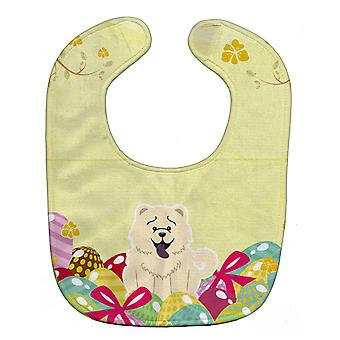 Carolines Treasures  BB6140BIB Easter Eggs Chow Chow White Baby Bib
