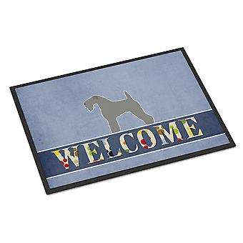 Kerry Blue Terrier Welcome Indoor or Outdoor Mat 18x27
