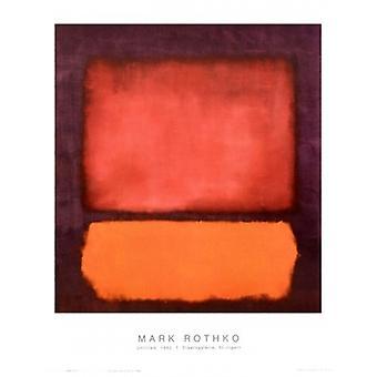 Ohne Titel 1962 Plakat Poster Print von Mark Rothko