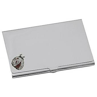 Orton West Lady Bird Card Case - Silver