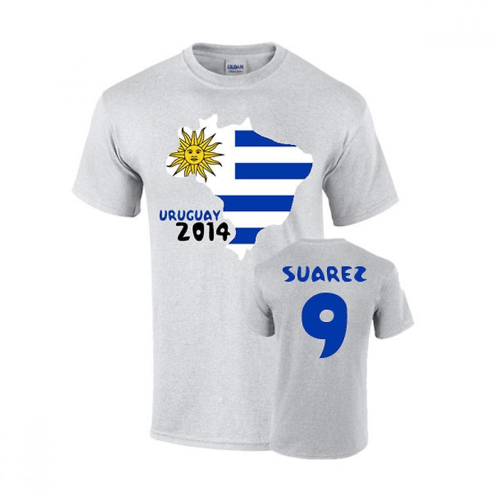 Uruguay 2014 Country Flag T-shirt (suarez 9)