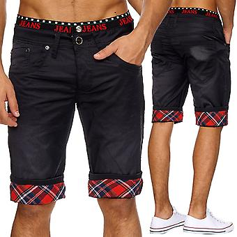 Men's black shorts oversize shorts Boxer style denim summer W34 - W46