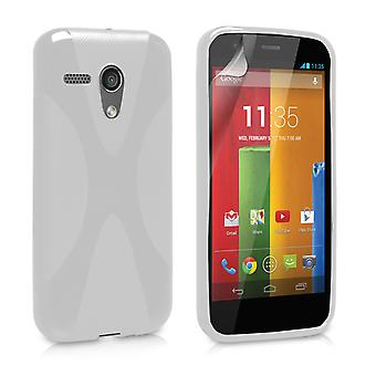 Yousave Accessories Motorola Moto G Silicone Gel X-Line Case - White