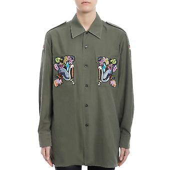 Forte Couture ladies FCSS1742 green cotton shirt