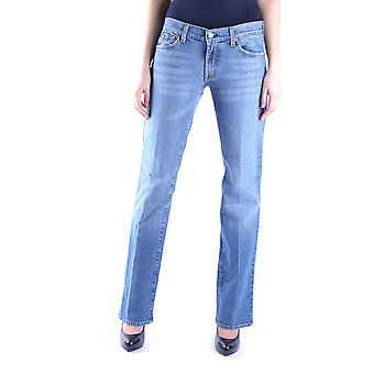 7 for all mankind women's MCBI004018O light blue cotton of jeans