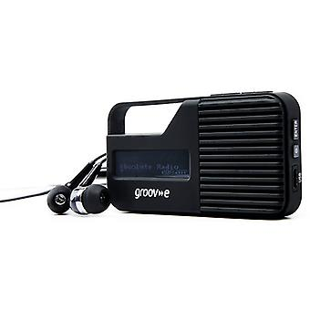Groov-e Rio bolsillo DAB/FM Radio (modelo no. GVDR01BK)
