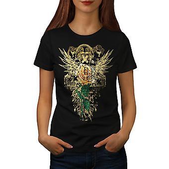 Originele Vintage Fashion vrouwen gekleedinzwartet-shirt | Wellcoda