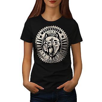 LA tijgers kat Californië vrouwen gekleedinzwartet-shirt | Wellcoda