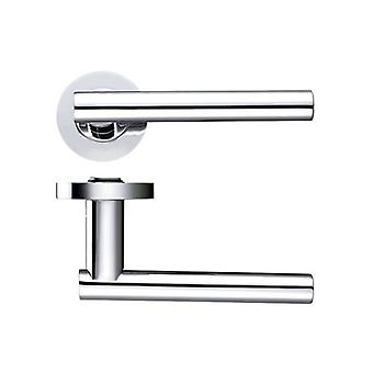 Zoo Lucca Lever - Screw On Rose - Polished Chrome - ZPZ090CP
