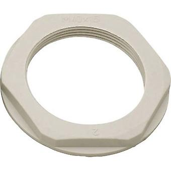 Locknut with flange M32 Polyamide Light grey (RAL 7035) Helukabel KMK-PA 97820 1 pc(s)