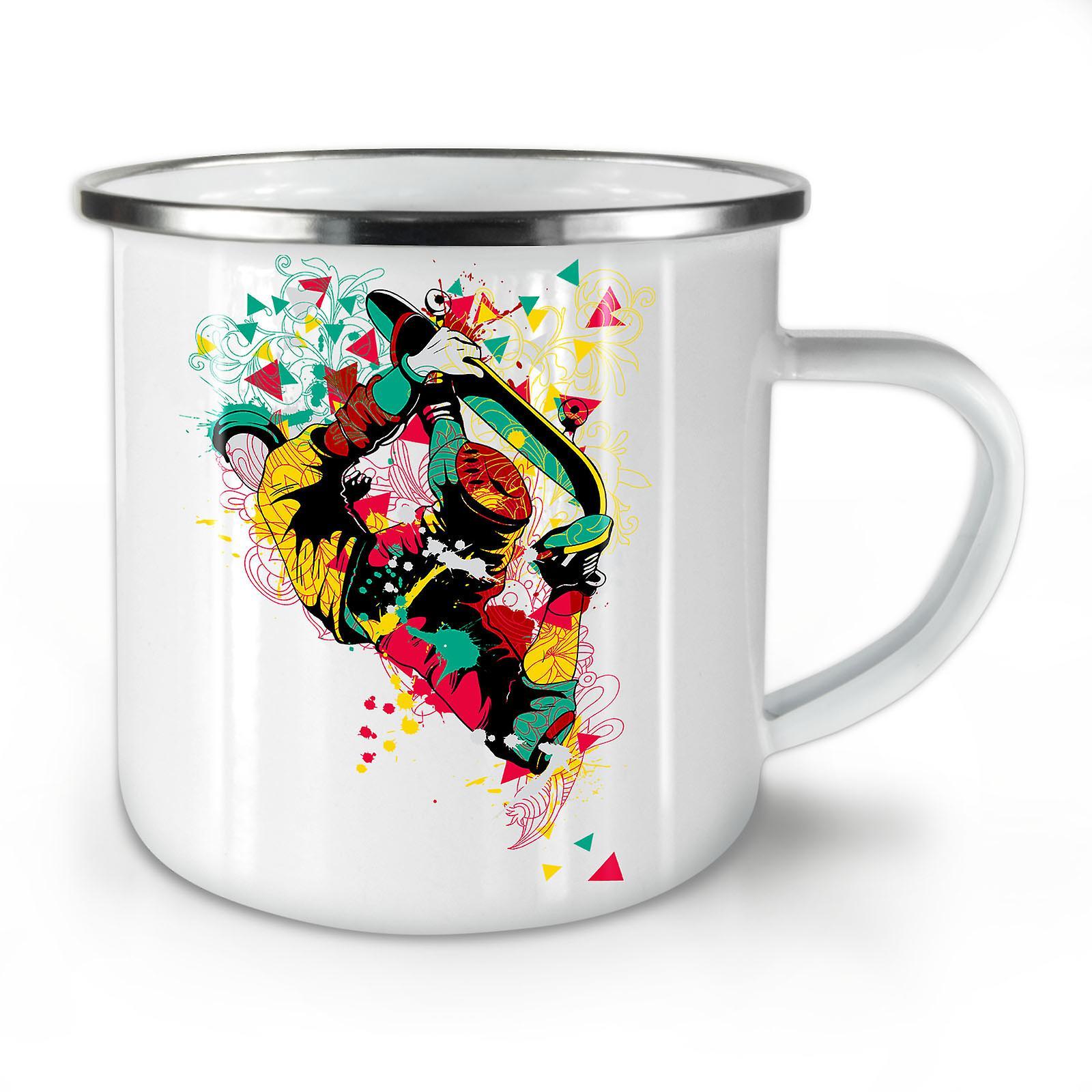Café Musique Nouvelle Whitetea Géométrie Mug10 Colorée Émail OzWellcoda D9H2IWE