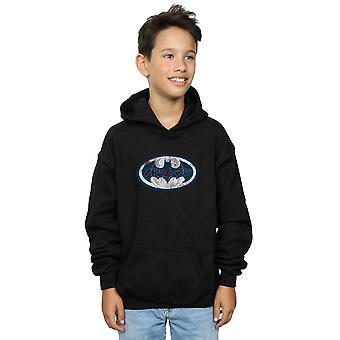 DC Comics Boys Batman Japanese Logo White Hoodie