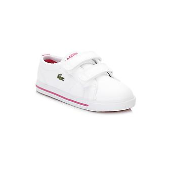 Lacoste Infant White/Pink Marcel 117 1 CAI Trainers