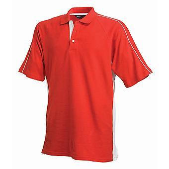 Finden & Hales Mens Sports Performance Short Sleeve Cotton Polo Shirt