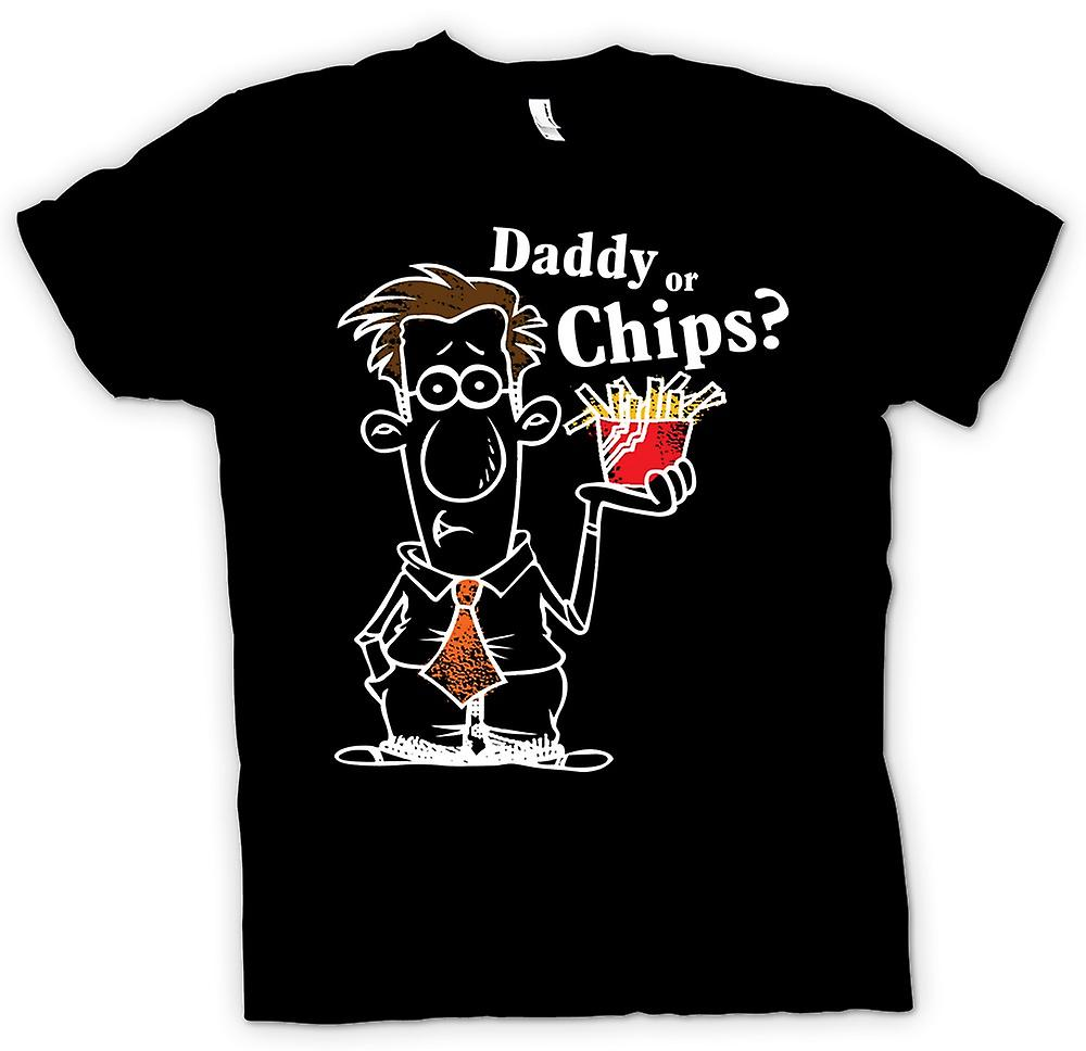 Mens T-shirt-Daddy oder Chips - lustig