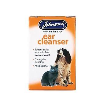 (3 パック)ジョンソンの獣医 - 耳洗剤 18 ml