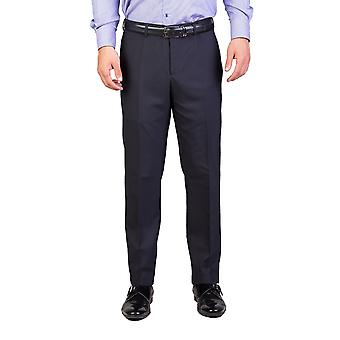 Dior Homme mannen wol Slim Fit Dress broek broek marineblauw
