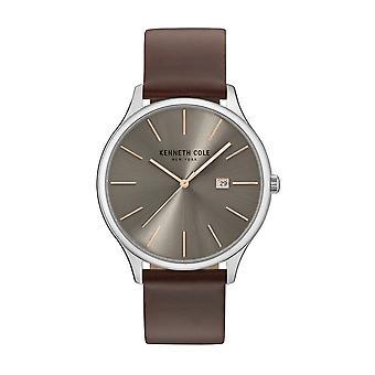 Kenneth Cole New York men's watch wristwatch leather KC15096003