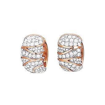 ESPRIT collection ladies earrings Creole silver Rosé Adelphia ELCO91939B000