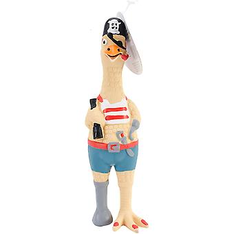 Small Captain Jack Rubber Chicken Dog Toy 9