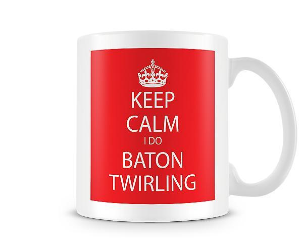 Houd rust ik Baton Twirling afgedrukt mok