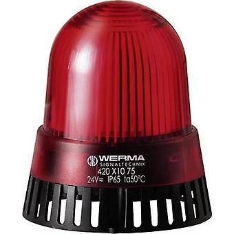 Buzzer LED Werma Signaltechnik 420.110.75 Red Non-stop light signal 24 V AC, 24 Vdc 92 dB