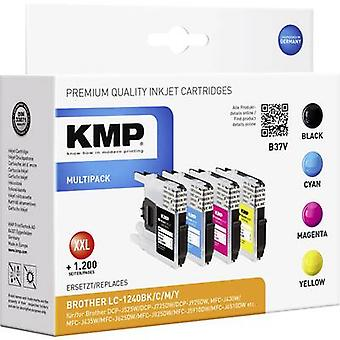 KMP Ink replaced Brother LC-1240 Compatible Set Black, Cyan, Magenta, Yellow B37V 1524,0050