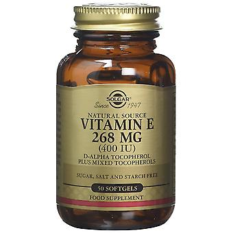 Solgar Vitamin E 268 mg (400 IE) vegetarisk Softgels, 50