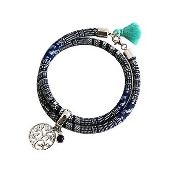 Gemshine - donna - Bracciale - zaffiro Bracciale - argento 925 - albero della vita - AZTEC - - blu