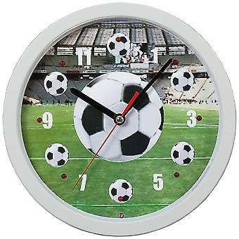 Atlanta 4482 wall clock quartz analog white football soccer watch vocal fan song