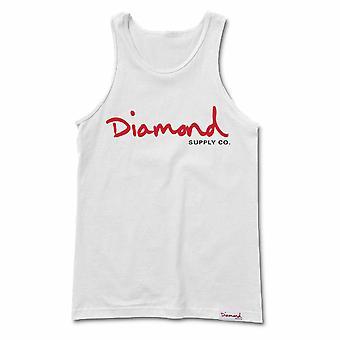 Diamond Supply Co Og Script Tank White