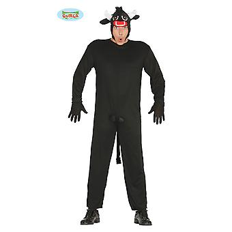 Rasende oksen kostyme karneval tema party kostyme for menn svart Torro dyr kostyme okse