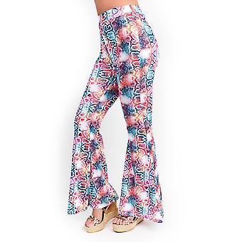 IKRUSH mujeres Meg High cintura impreso pantalones Flare