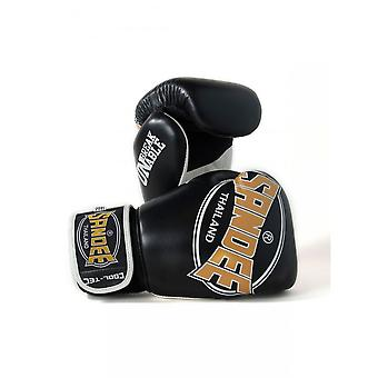 Sandee Cool-Tec Muay Thai Boxing Gloves - Black-Gold