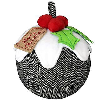 Riva Home Christmas Pudding Doorstop