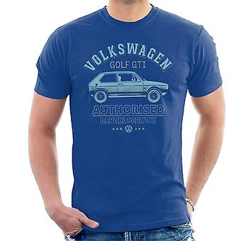 Official Volkswagen Blue Golf GTI Repairs Men's T-Shirt