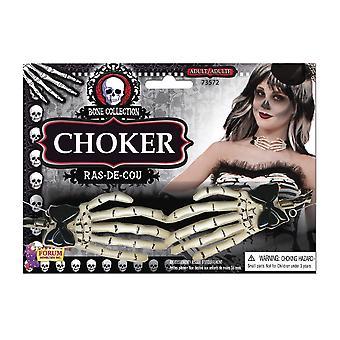 Choker de main de squelette de Bnov