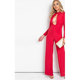 IKRUSH Womens Effie Cut Out Wide Leg Jumpsuit