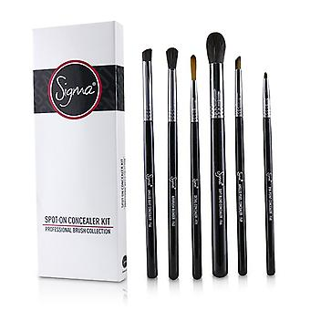Sigma Beauty Spot On Concealer Kit Professional Brush Collection - 6pcs