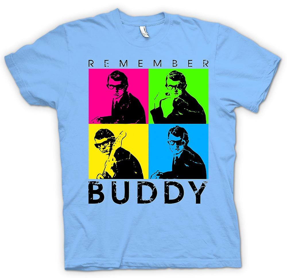 Mens T-shirt - Buddy Holly Remember