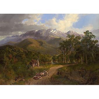 The Buffalo Ranges,Victoria,Nicholas Chevalier,60x40cm