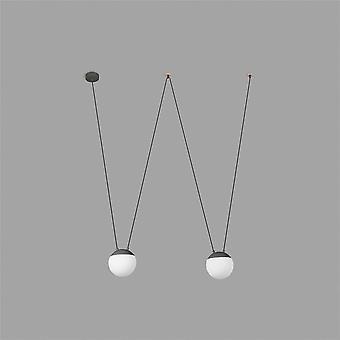 Faro - mijn donkere grijze twee-haak hanger met licht hout FARO28376 - 2L