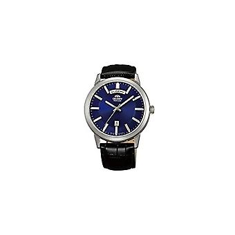Orient Automatic Analog Man with a leather strap FEV0U003DH