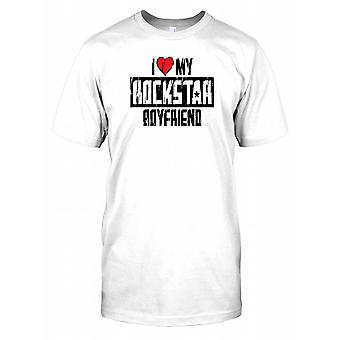 I Love My Rockstar Boyfriend - Funny Mens T Shirt