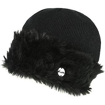 Regatta Womens/Ladies Luz Fur Trim Cotton Jersey Winter Beanie Hat